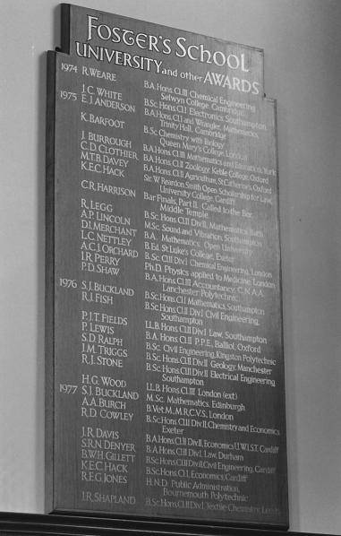 Awards Board 1974-1977